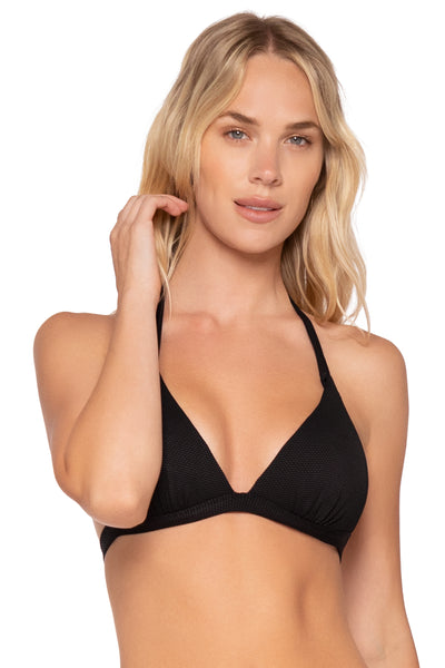 B. Swim Deep Sea Molded Halter Bikini Top Fuller Bust