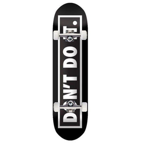Consolidated Skate Don't Do It Black/White 8.0""