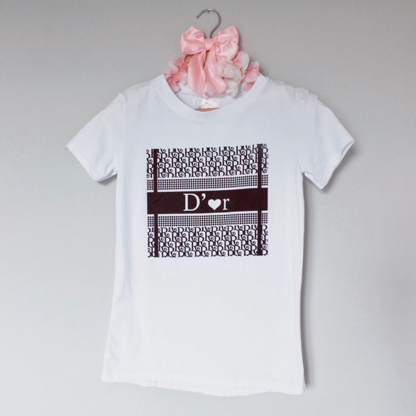 D'or Printed White T-Shirt