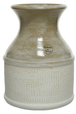 Glazed Two Tone Terracotta Vase - 25cm