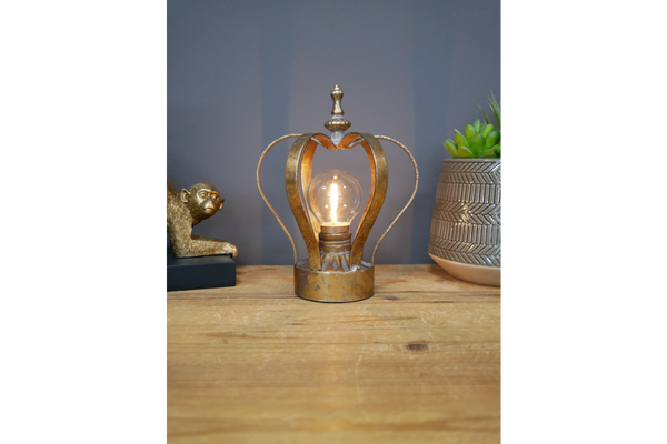 Gold Vintage Crown Lamp