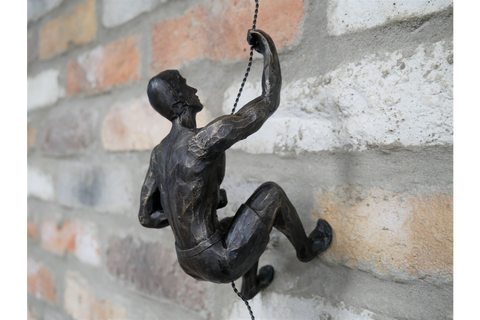 Bronze Abseiling Man with Shorts