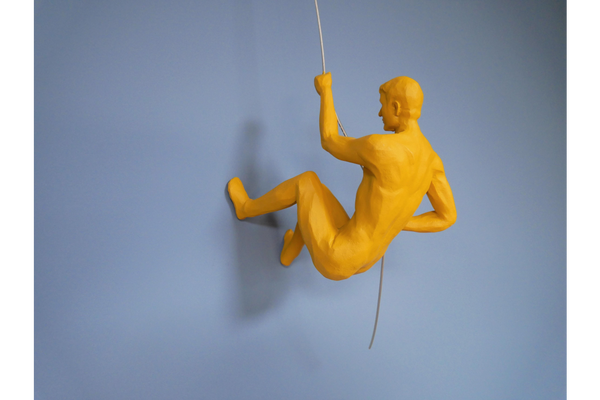 Abseiling Naked Man - Various Colours