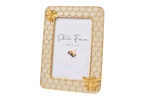 Gold Honeycomb Bee Frame - 6x4""