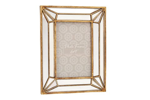 Gold Mirrored Frame - 6x4""