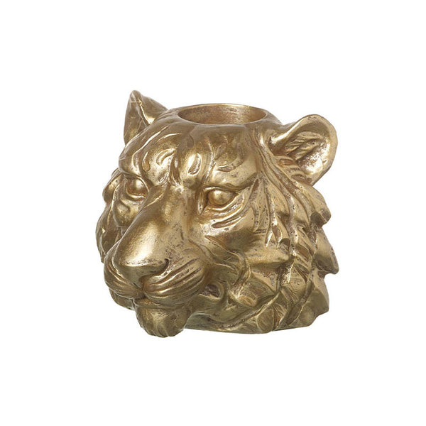 Gold Tiger Tealight Holder