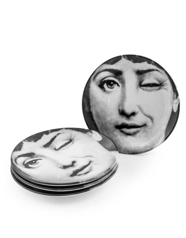 B&W Lady Winking Decorative Plate