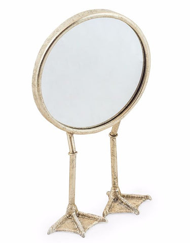 Pale Gold/Silver Duck Legged Table Mirror