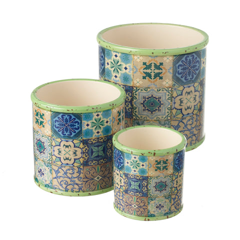 Clover Round Planter - Set of 3