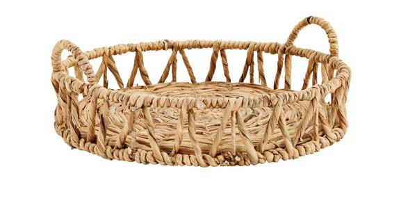 Water Hyacinth Tray with Handles