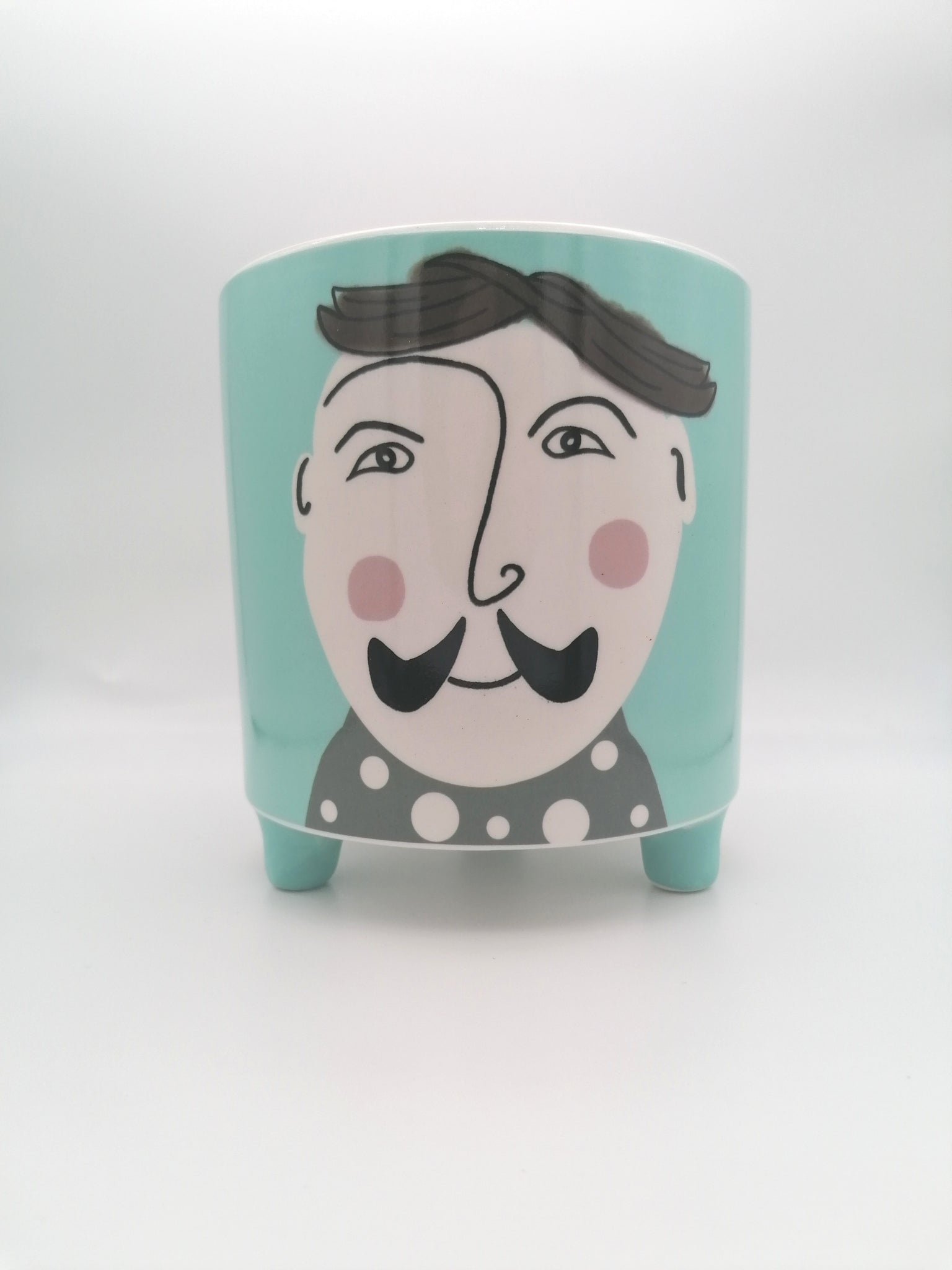 Imperfect Hipster Josh #2 Planter - Ø12cm