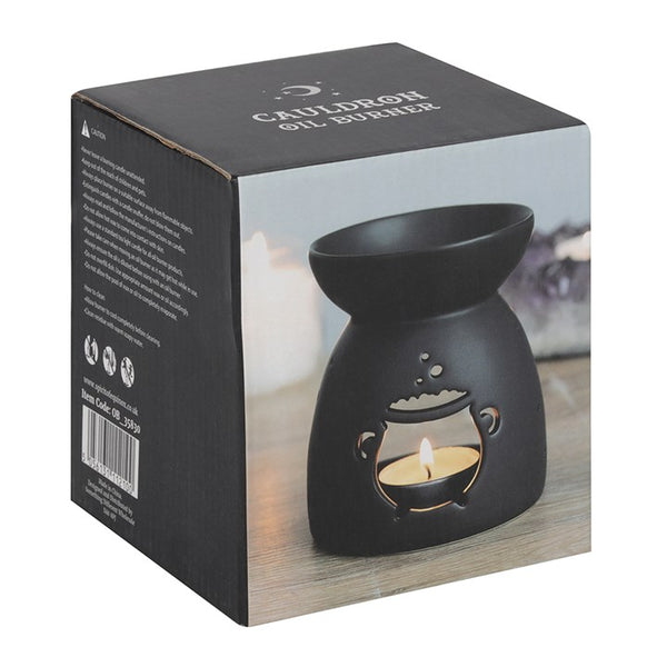 Black Cut Out Cauldron Oil Burner
