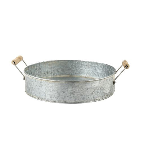 ZINC Round Tray With Handles