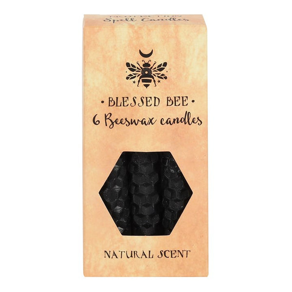 Blessed Bee Beeswax Candles - Black