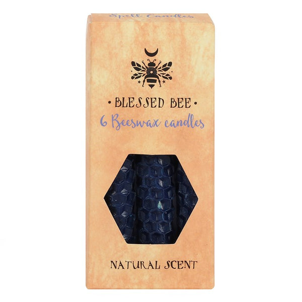 Blessed Bee Beeswax Candles - Blue