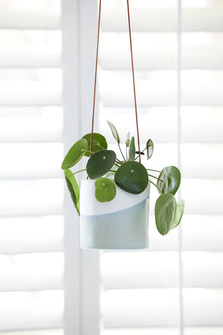 Blue/Grey Dip Hanging Planter - Ø10.5cm