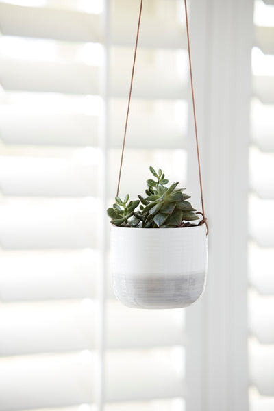 Grey Ripple Hanging Planter - Ø9.5cm