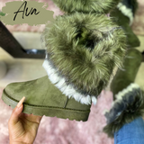 Ava Boot- Olive