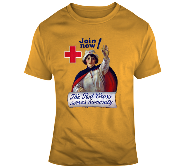 Red Cross Retro T Shirt - Crossroads Tshirts