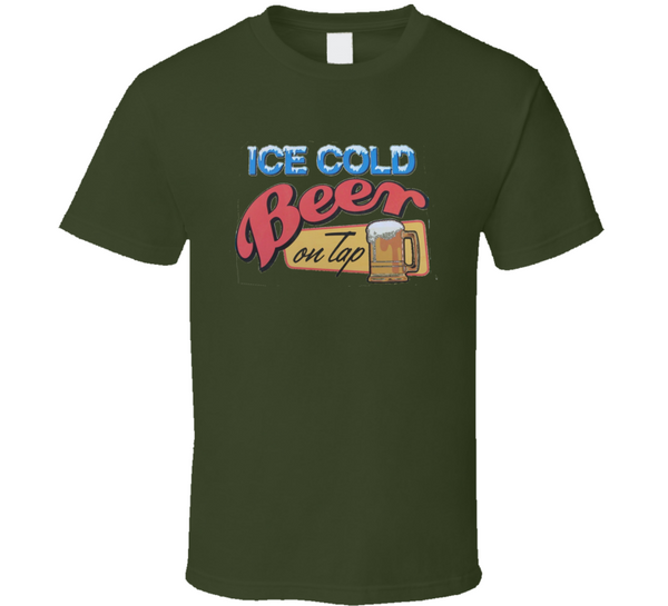 Ice Cold Beer T Shirt - Crossroads Tshirts