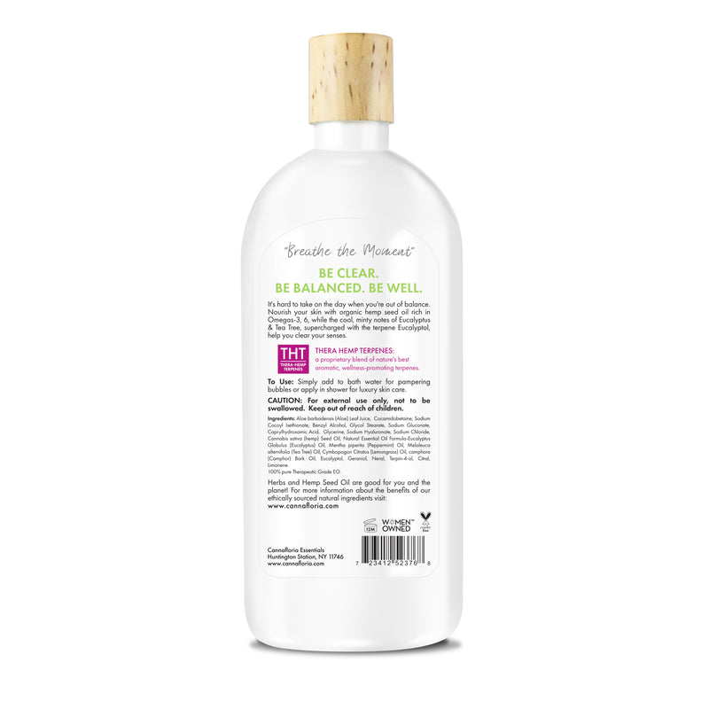 Be Clear Hemp Shower & Bubble Bath