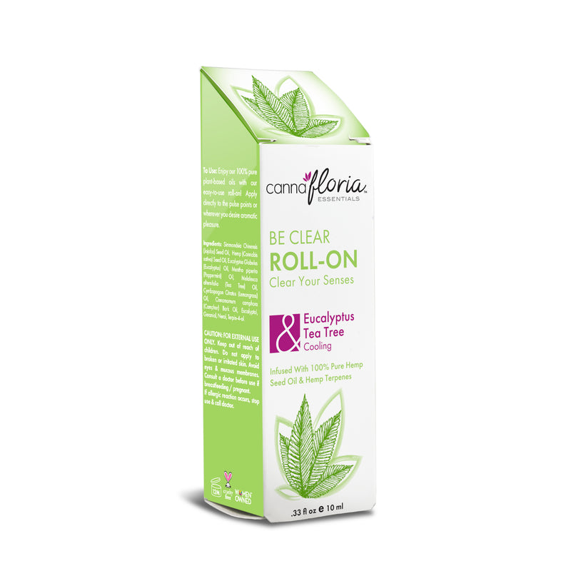 Cannafloria Be Clear Aromatherapy Roll-on Box