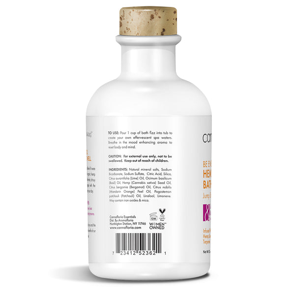 Cannafloria Be Energized Hemp Bath Fizz - Left Side