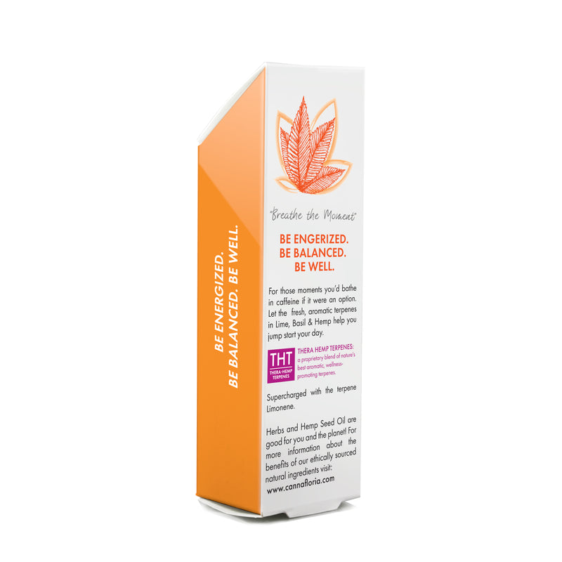 Cannafloria Be Energized Aromatherapy Roll-On Back of Box