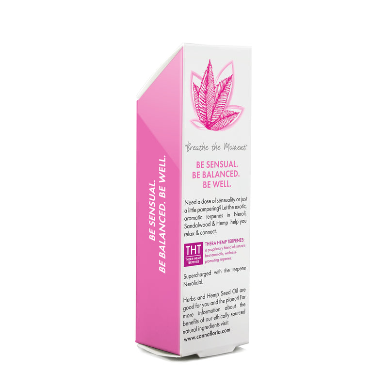 Cannafloria Be Sensual Aromatherapy Roll-On Back of Box