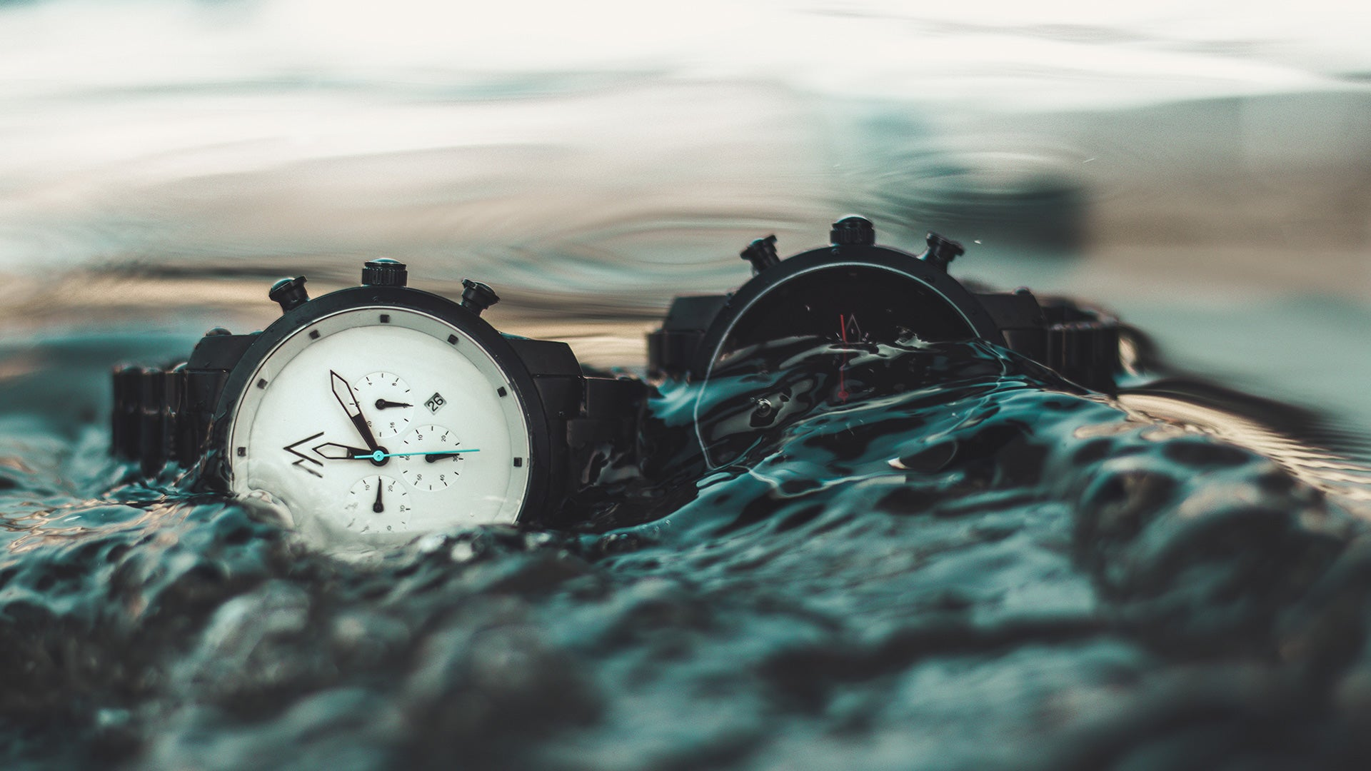 Pompeak watches chronograph collection water shot