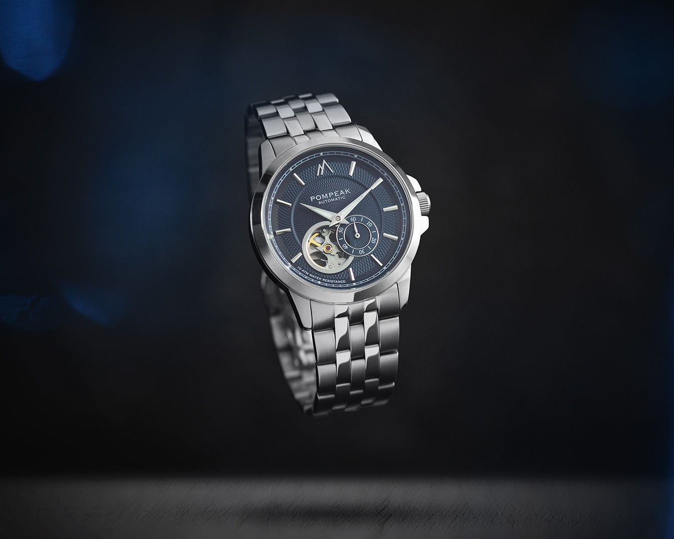Pompeak Gentlemens Navy Automatic watch, creative product image