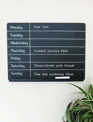 Chalkboard Weekly Planner | The Den & Now