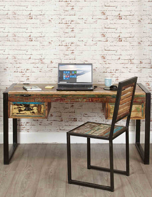 Creative Workspaces | Industrial Reclaimed Desk | The Den & Now