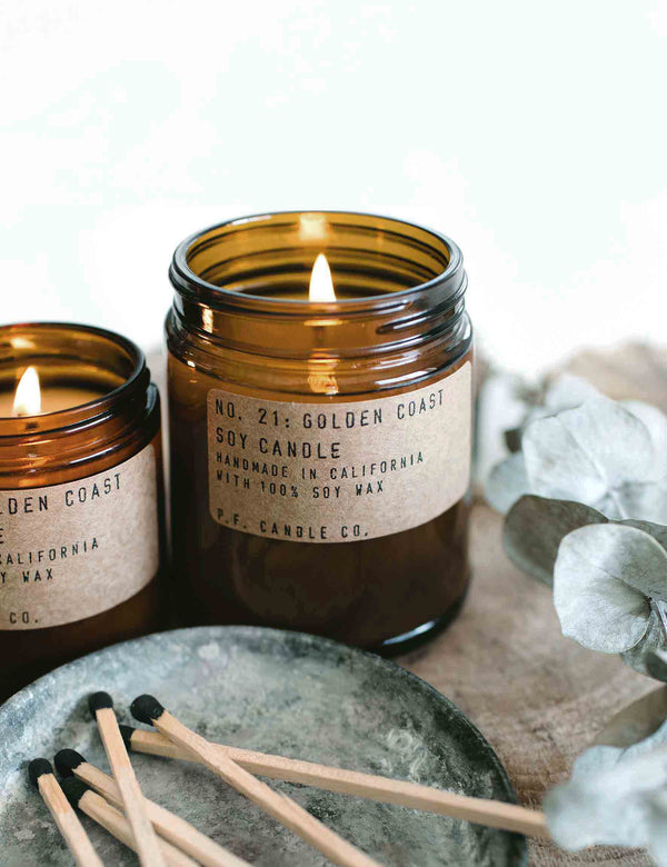 P.F. Candle Co. Soy Candles | The Den & Now