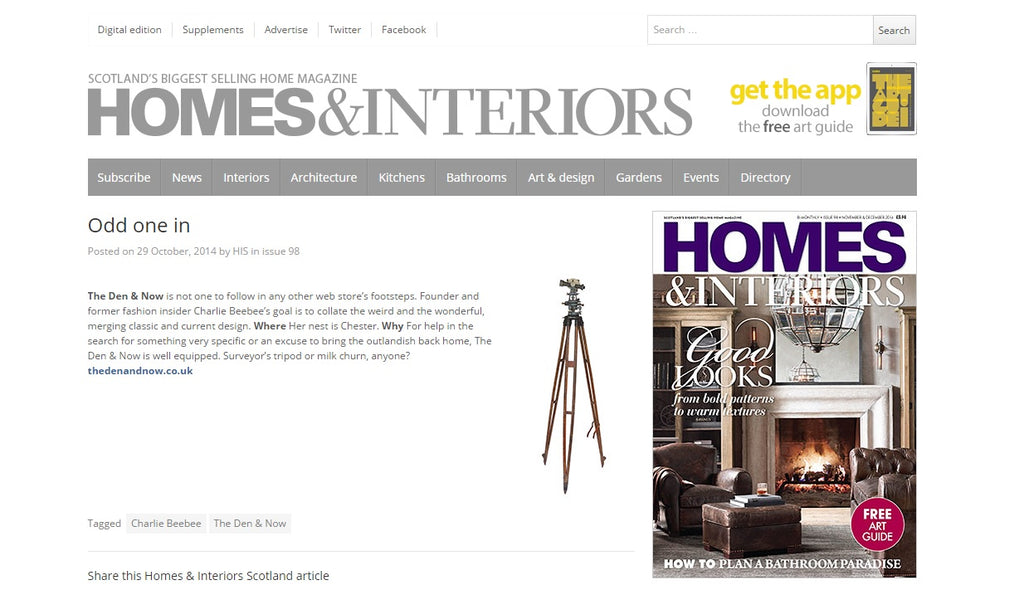 Vintage Surveyor's Tripod & Theodolite | The Den & Now | Homes & Interiors Scotland | Online