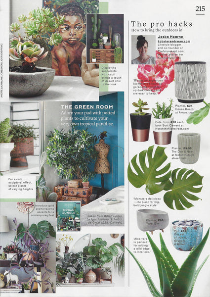 Concrete Planter | The Den & Now | Marie Claire | March 2017