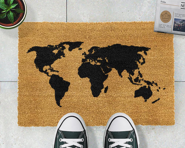World Map Doormat | The Den & Now