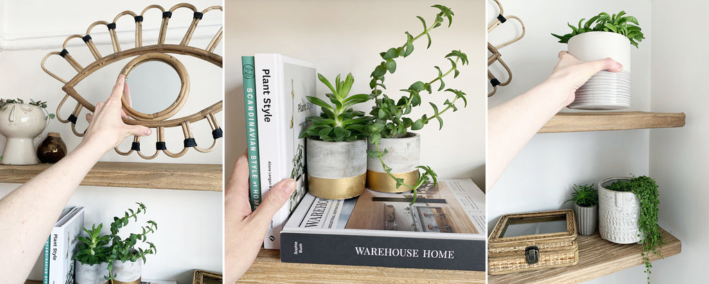 Botanical Plant Shelf Styling | The Den & Now