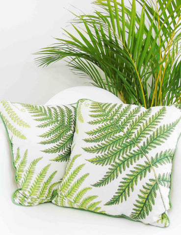 Botanical Fern Cushion | The Den & Now