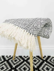 Diamond Woven Cotton Throw | The Den & Now