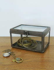 Industrial Glass Jewellery Box | Buy Industrial Homeware | The Den & Now