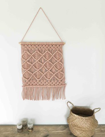 Macrame Wall Hanging - Blush Pink | The Den & Now