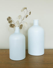 Recycled Frosted Glass Bottle Vases | Buy Stylish Homeware | The Den & Now