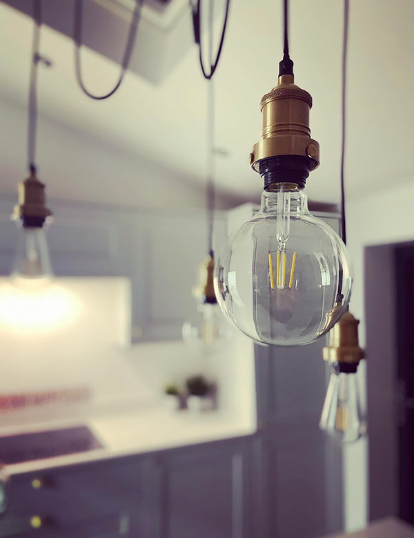 Industrial Brooklyn Five Wire Brass Pendant Light by Industville