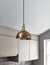 Industrial Brooklyn Small Dome Brass Pendant Light by Industville