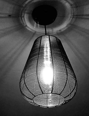 Wire Cage Drop Pendant Light by Industville | This Little Terrace