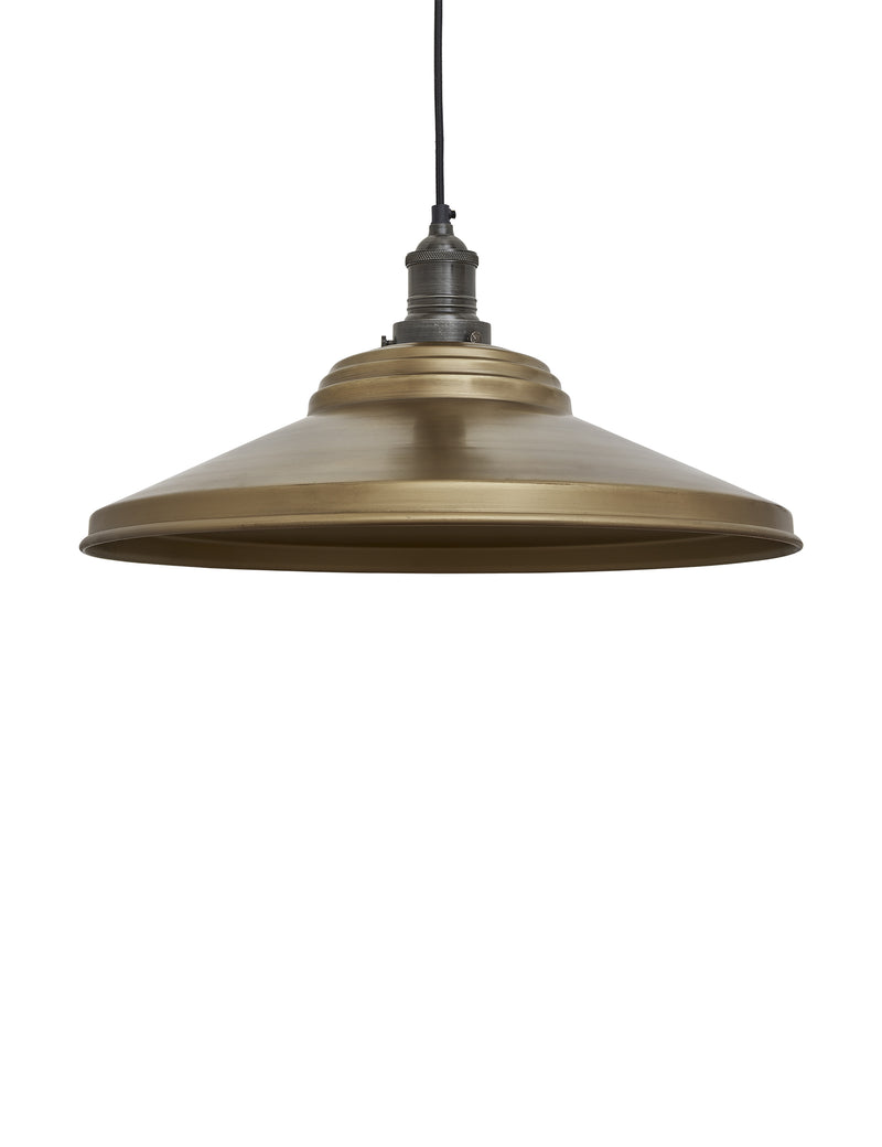Industrial Brooklyn Giant Step Brass Pendant Ceiling Light by Industville - Pewter Holder