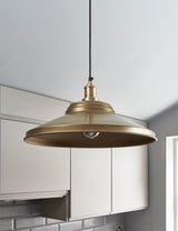 Industrial Brooklyn Giant Step Brass Pendant Ceiling Light by Industville