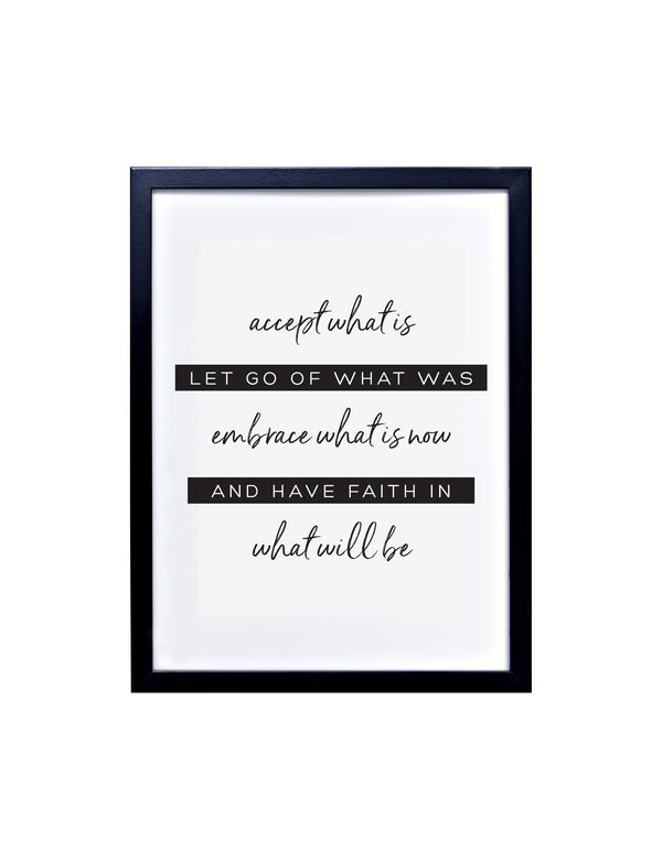 Accept, Embrace & Have Faith Typography Print