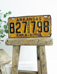 American 1975 Vintage Number Plate | Buy Retro Homeware | The Den & Now